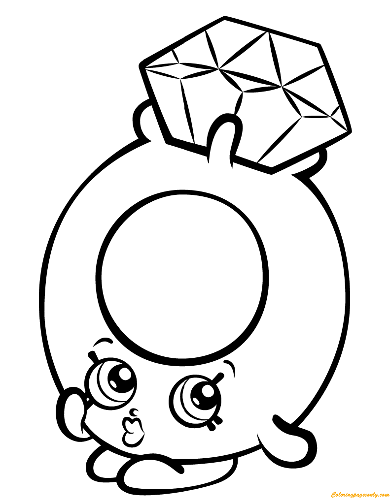 Roxy Ring Shopkin Season 3 Coloring Page Free Coloring Pages Online