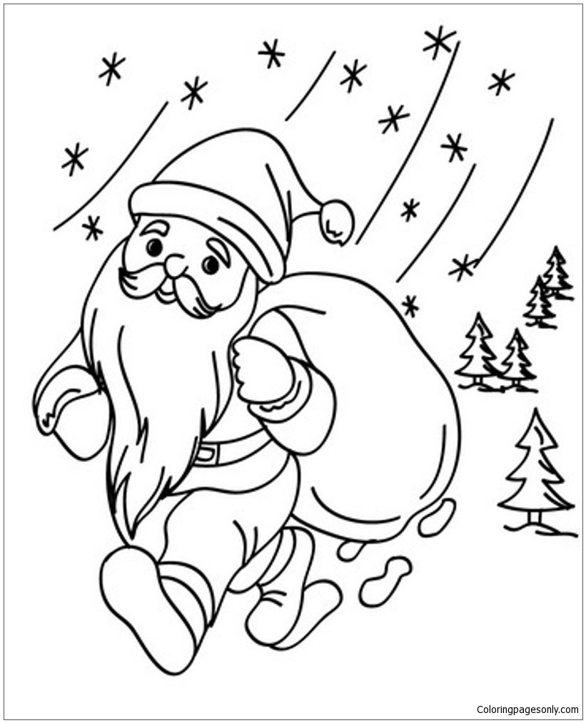 Santa Christmas 1 Coloring Page Free Coloring Pages Online