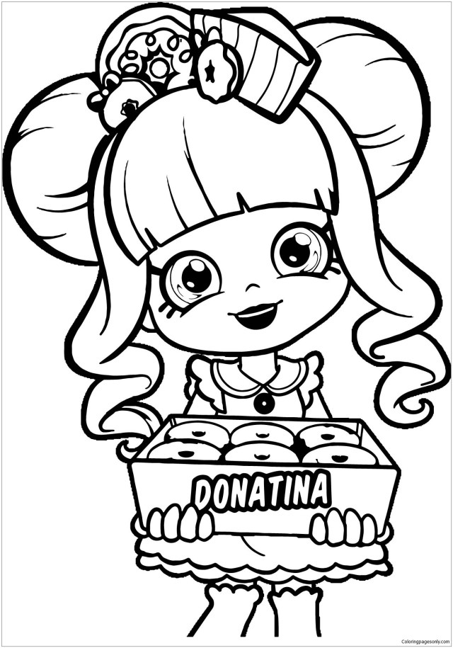 Shopkins Donatina Girl Coloring Pages - Shopkins Coloring Pages