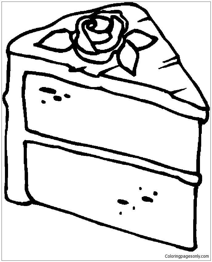 Slice Cake Coloring Page Free Coloring Pages Online
