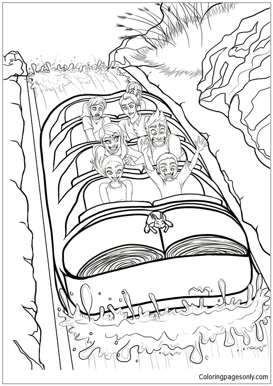 Splash Mountain Coloring Page Free Coloring Pages Online