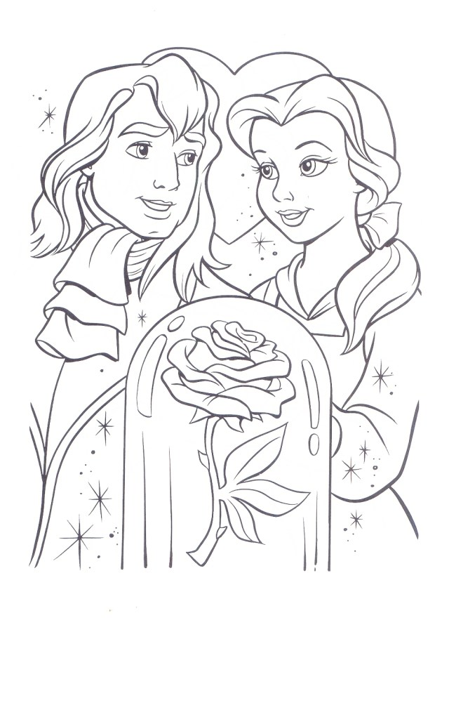 Beauty and the Beast Coloring Pages - Coloring Pages For Kids And