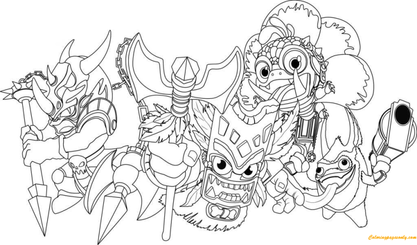the other magic character spyro dragon coloring page