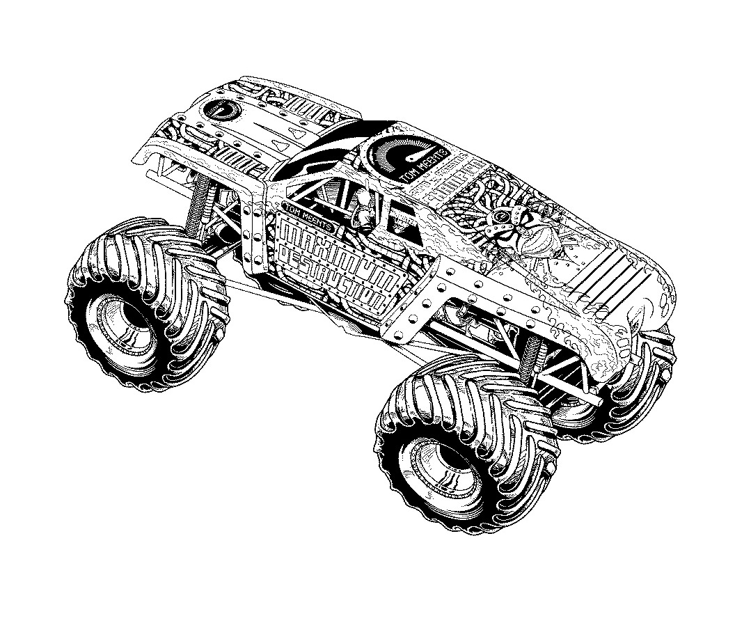 Monster Truck Prowler Coloring Page