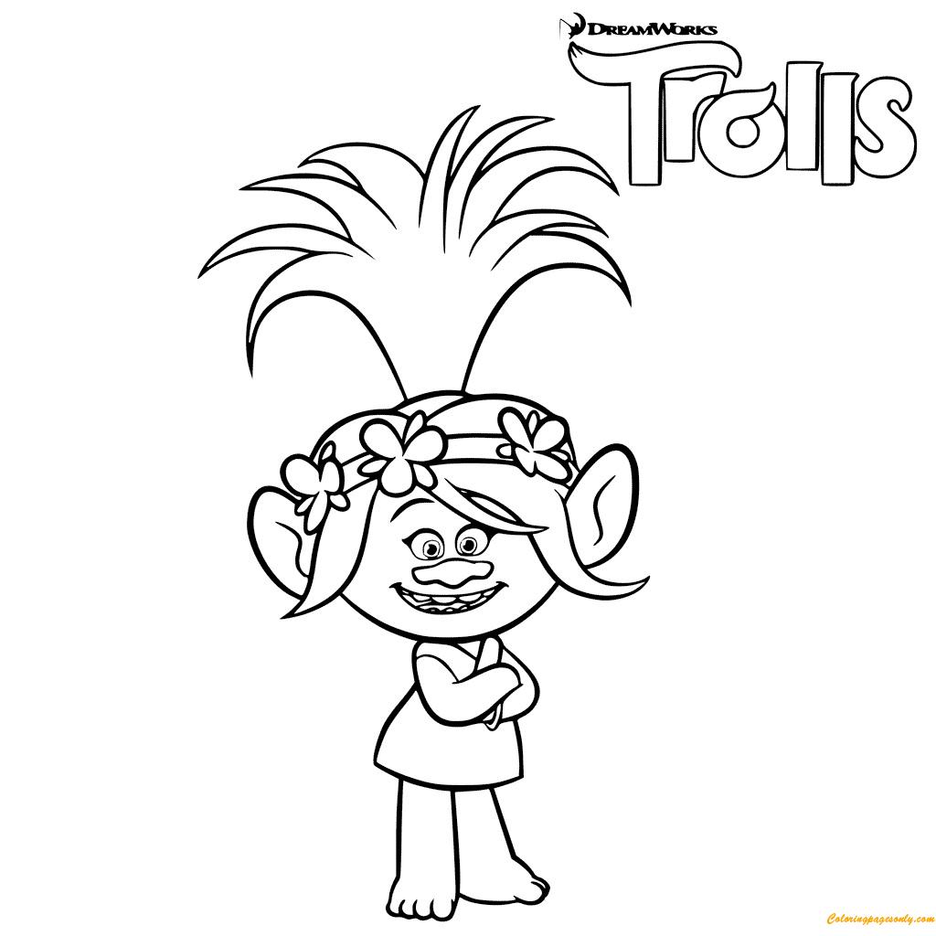 Trolls Poppy Troll Coloring Page