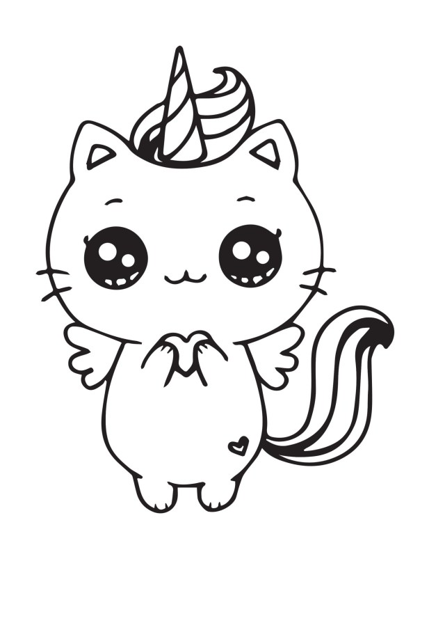 Unicorn Cat Coloring Pages - Coloring Pages For Kids And Adults