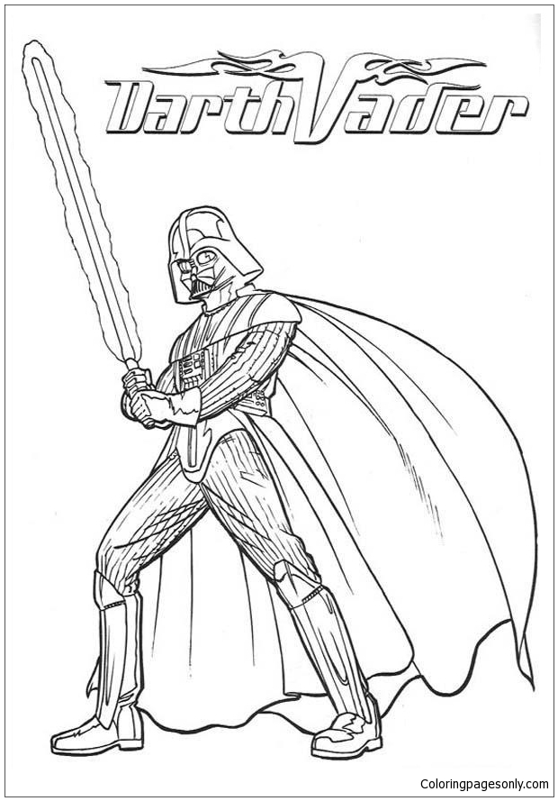 War Armor Of Darth Vader Coloring Page Free Coloring Pages Online