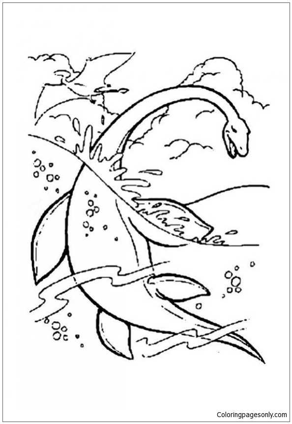 Water Dinosaur Coloring Page Free Coloring Pages Online