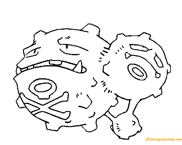 Weezing Pokemon Coloring Page Free Coloring Pages Online