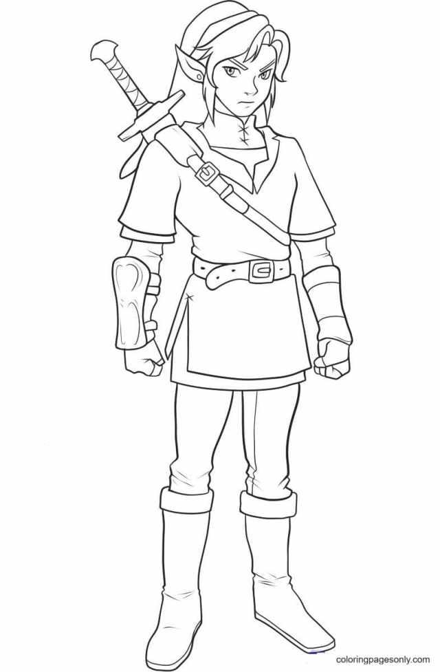 Link Legend of Zelda Coloring Pages - Zelda Coloring Pages