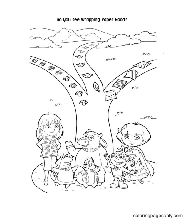 Dora and Friends Coloring Pages - Dora The Explorer Coloring Pages