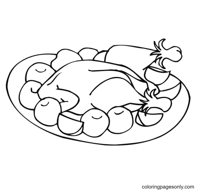 Thanksgiving Dinner Coloring Pages - Thanksgiving Coloring Pages