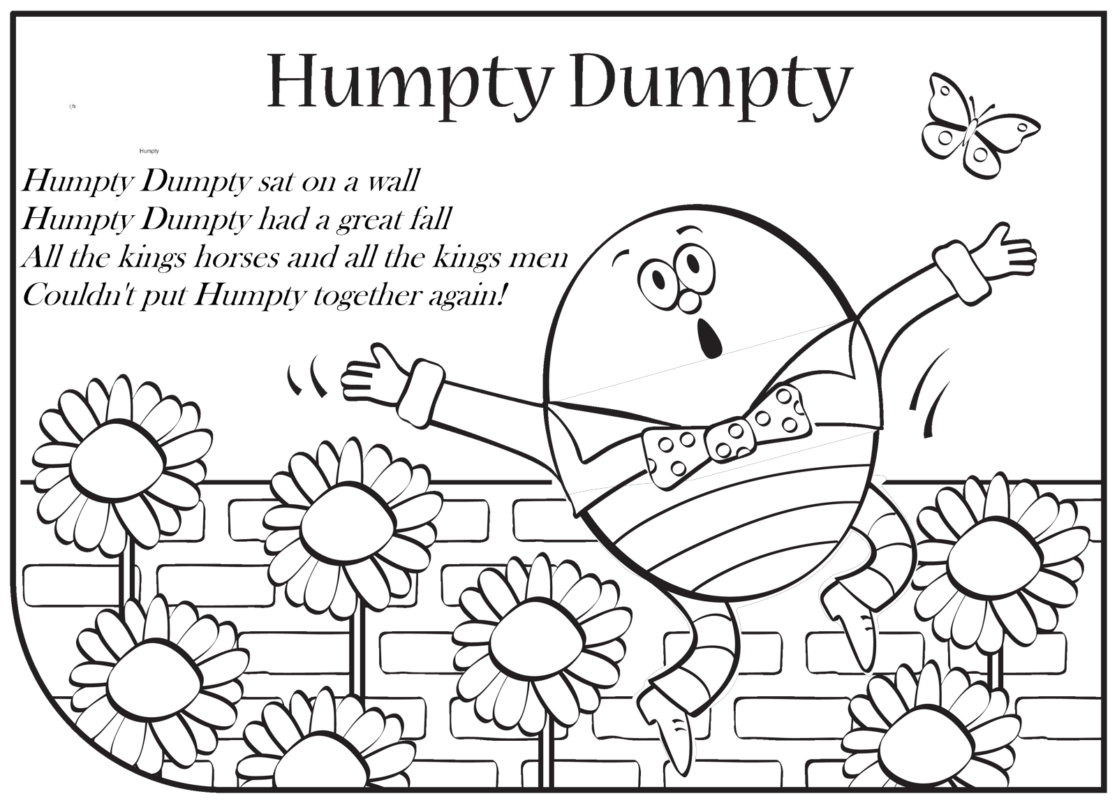 Humpty Dumpty Coloring Pages To Download And Print For Free