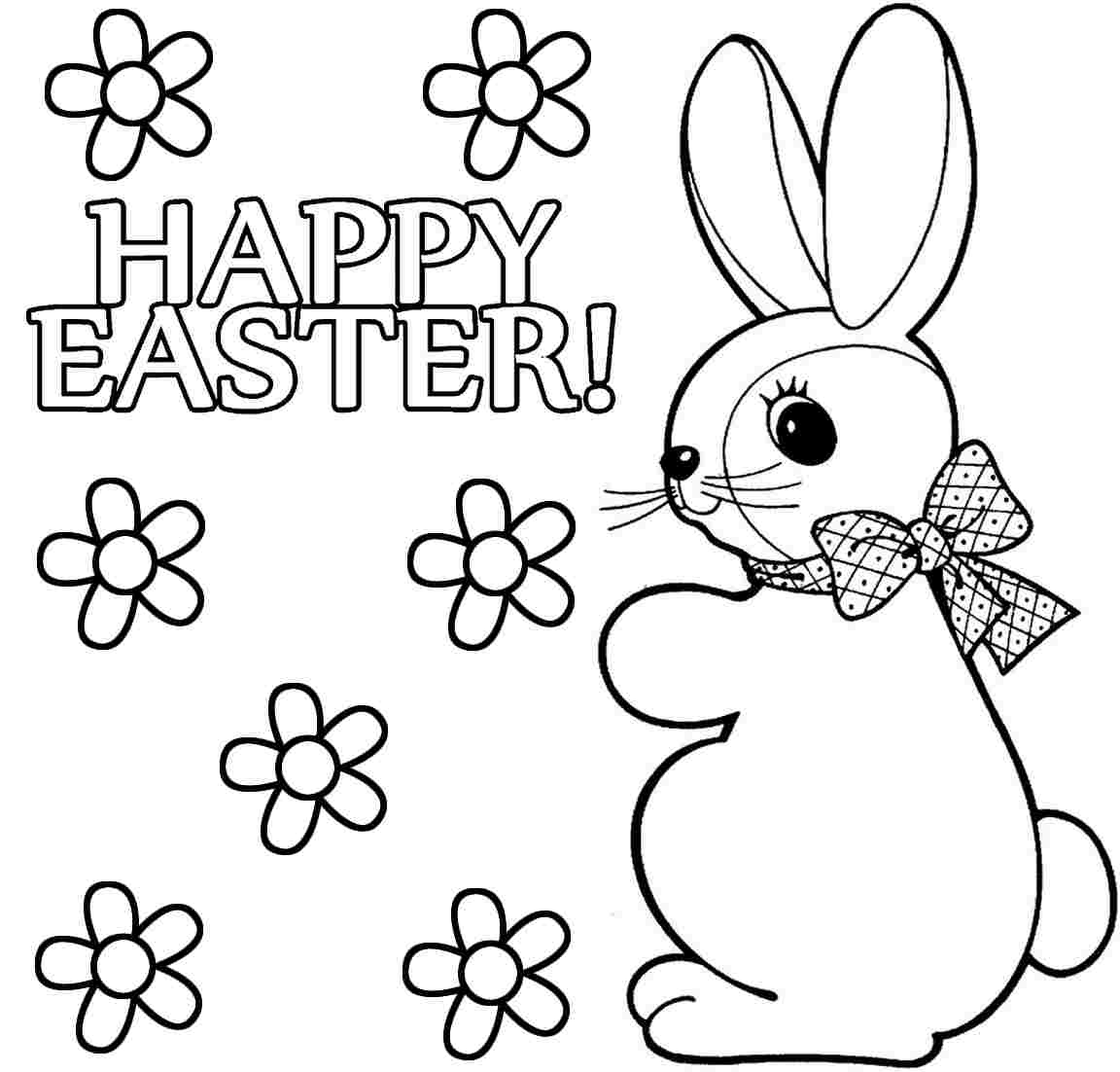 Easter Bunny Coloring Pages To Print To Download And Print