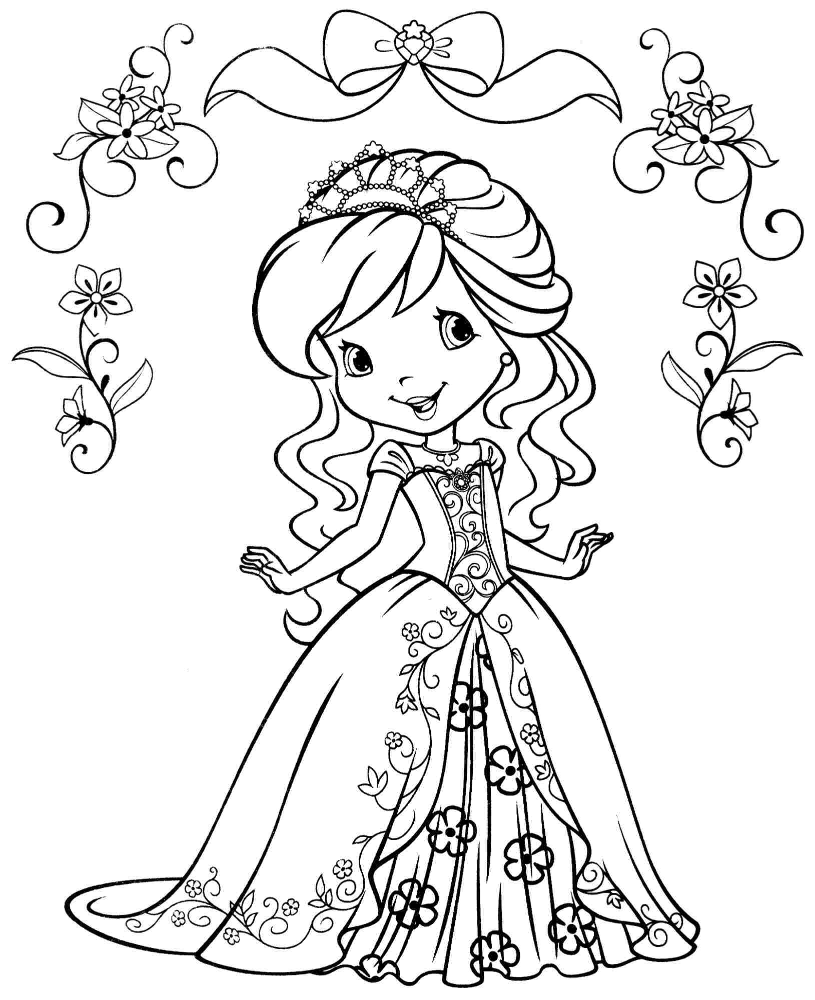 Strawberry Shortcake Valentine Coloring Pages Download And