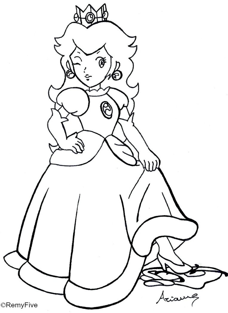 Princess peach coloring pages to download and print for free   free coloring pages princess peach