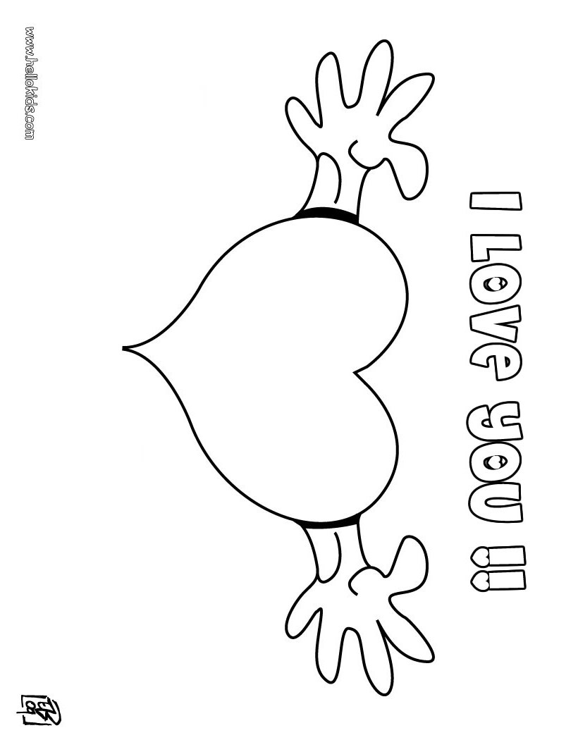 I love you coloring pages download and print free, love you coloring pages