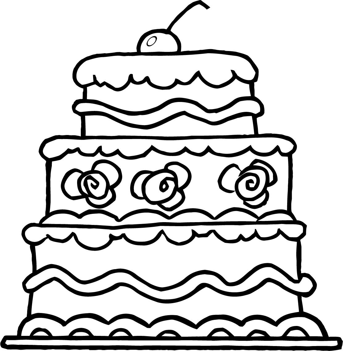 Cake Coloring Pages To Download And Print For Free
