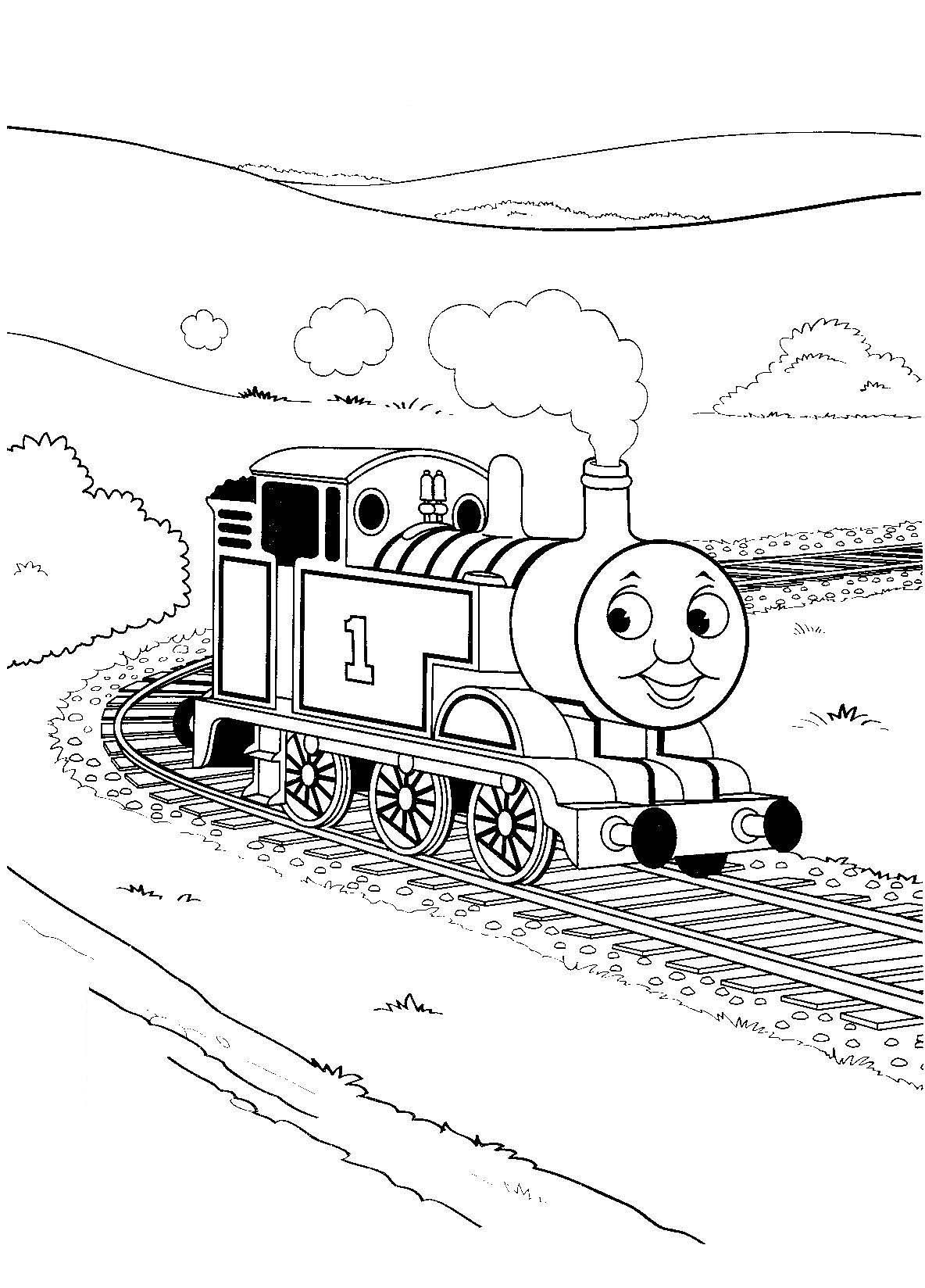 Thomas The Tank Engine Coloring Pages To Download And