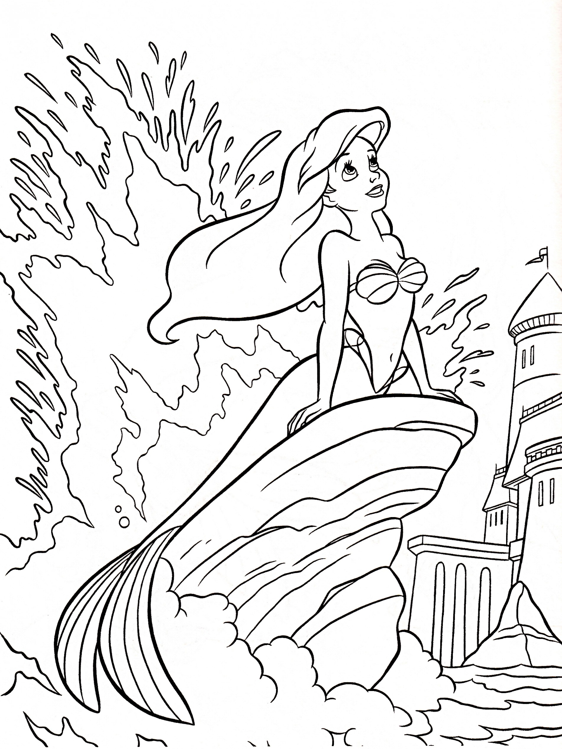 The Little Mermaid Coloring Pages To Download And Print