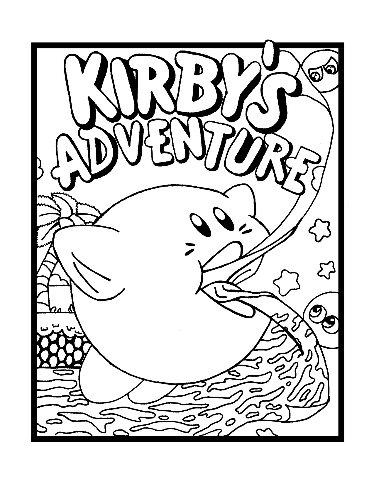 Kirby Coloring Pages To Download And Print For Free