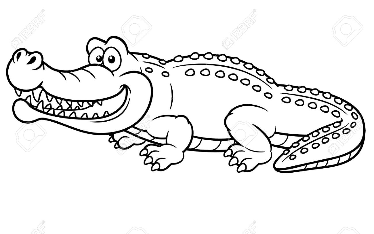 Coloring Page Alligator Cake Ideas And Designs