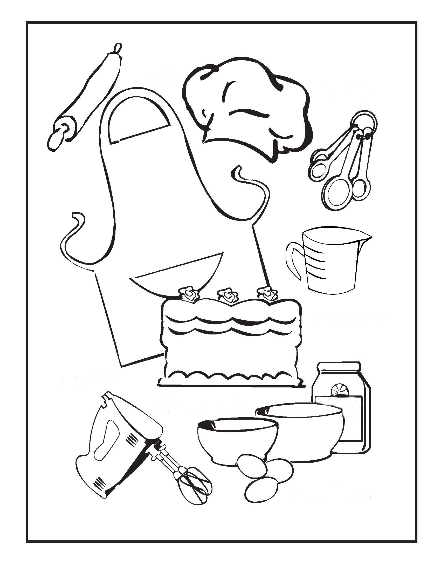 Cooking Coloring Pages To Download And Print For Free