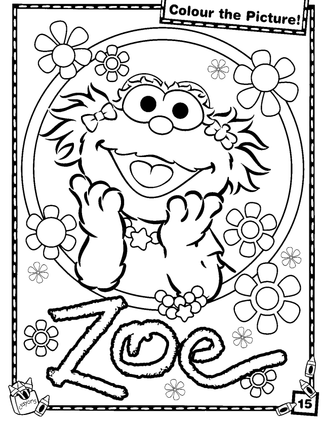 Baby sesame street coloring pages
