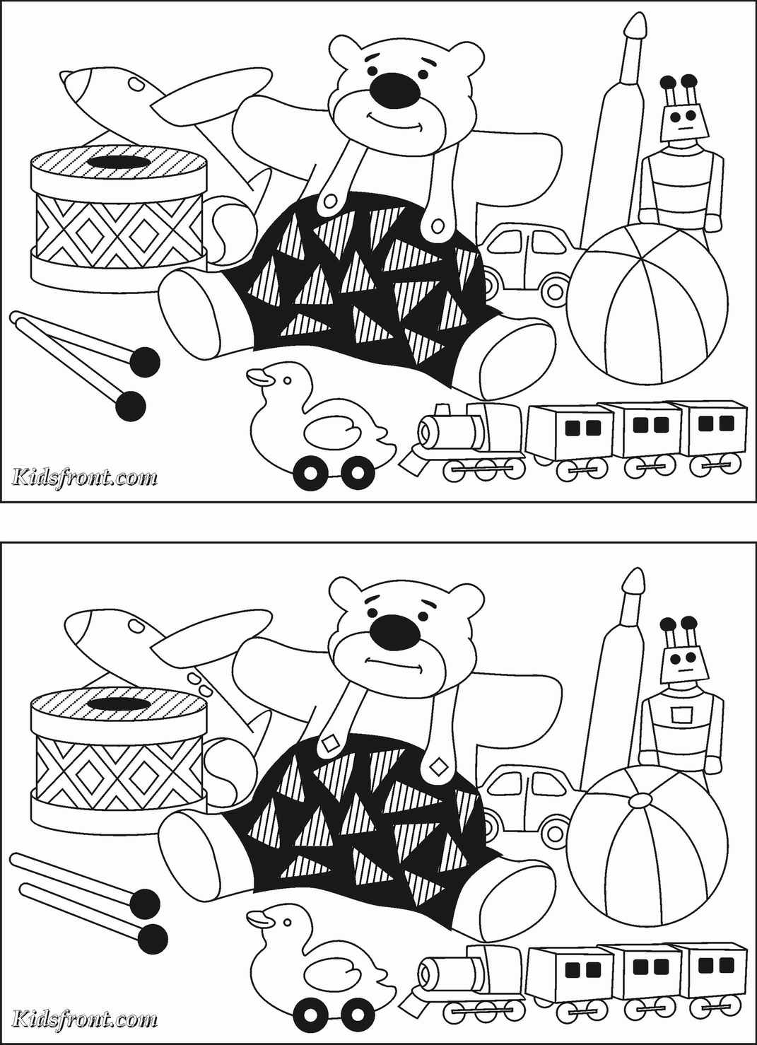 Spot The Difference Coloring Pages Download And Print For Free
