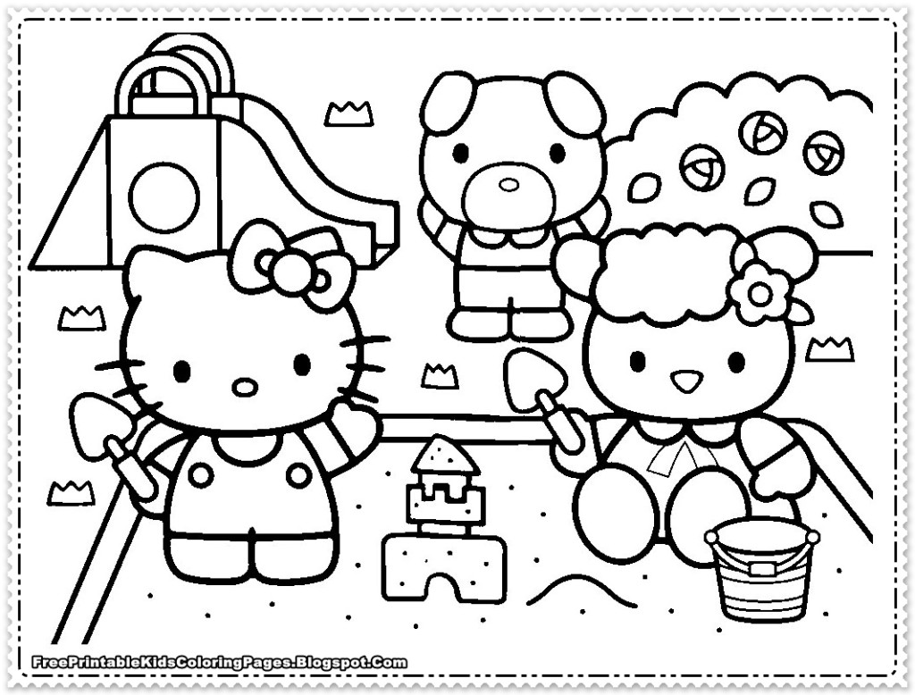Large Hello Kitty Coloring Pages Download And Print For Free