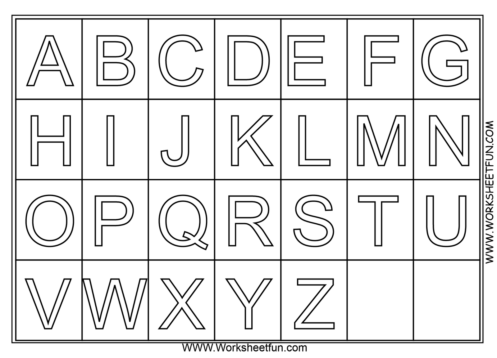 A Z Alphabet Coloring Pages Download And Print For Free