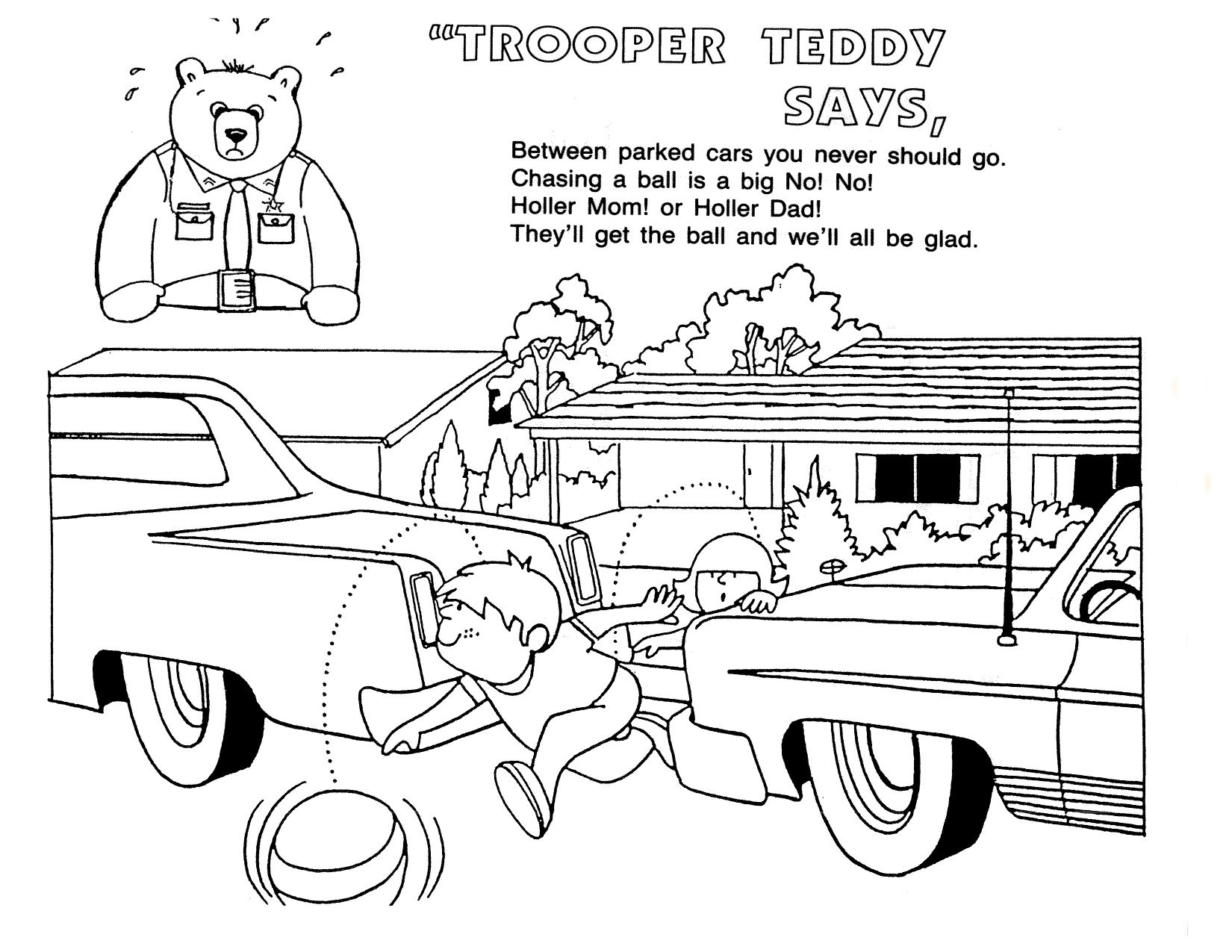 Safety Coloring Pages Free