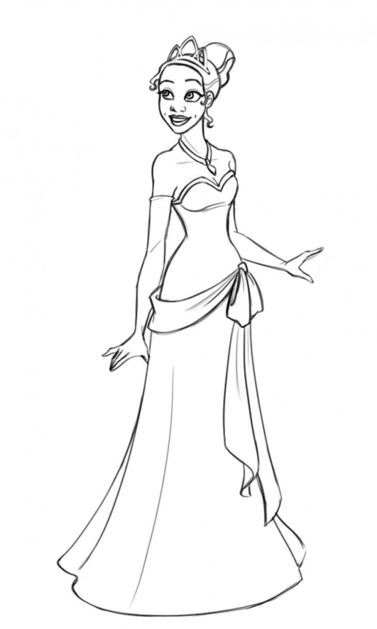Princess tiana coloring pages download and print for free | disney princess tiana printable coloring pages