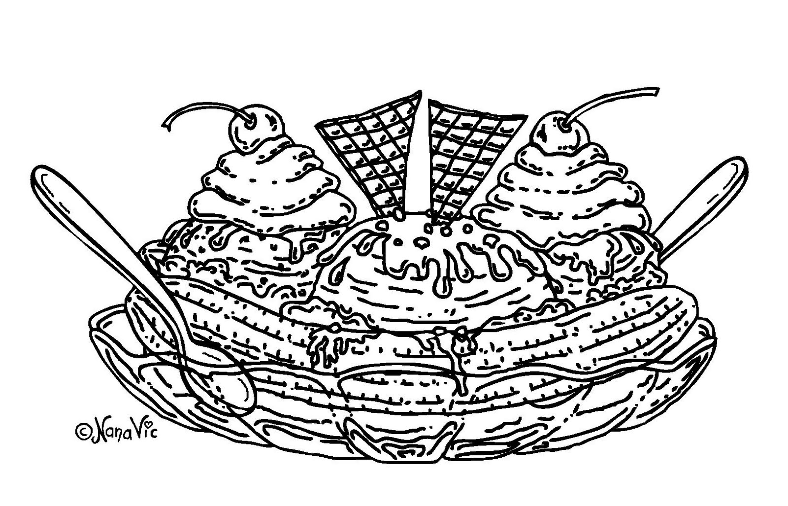 Ice Cream Parlor Coloring Pages Download And Print For Free