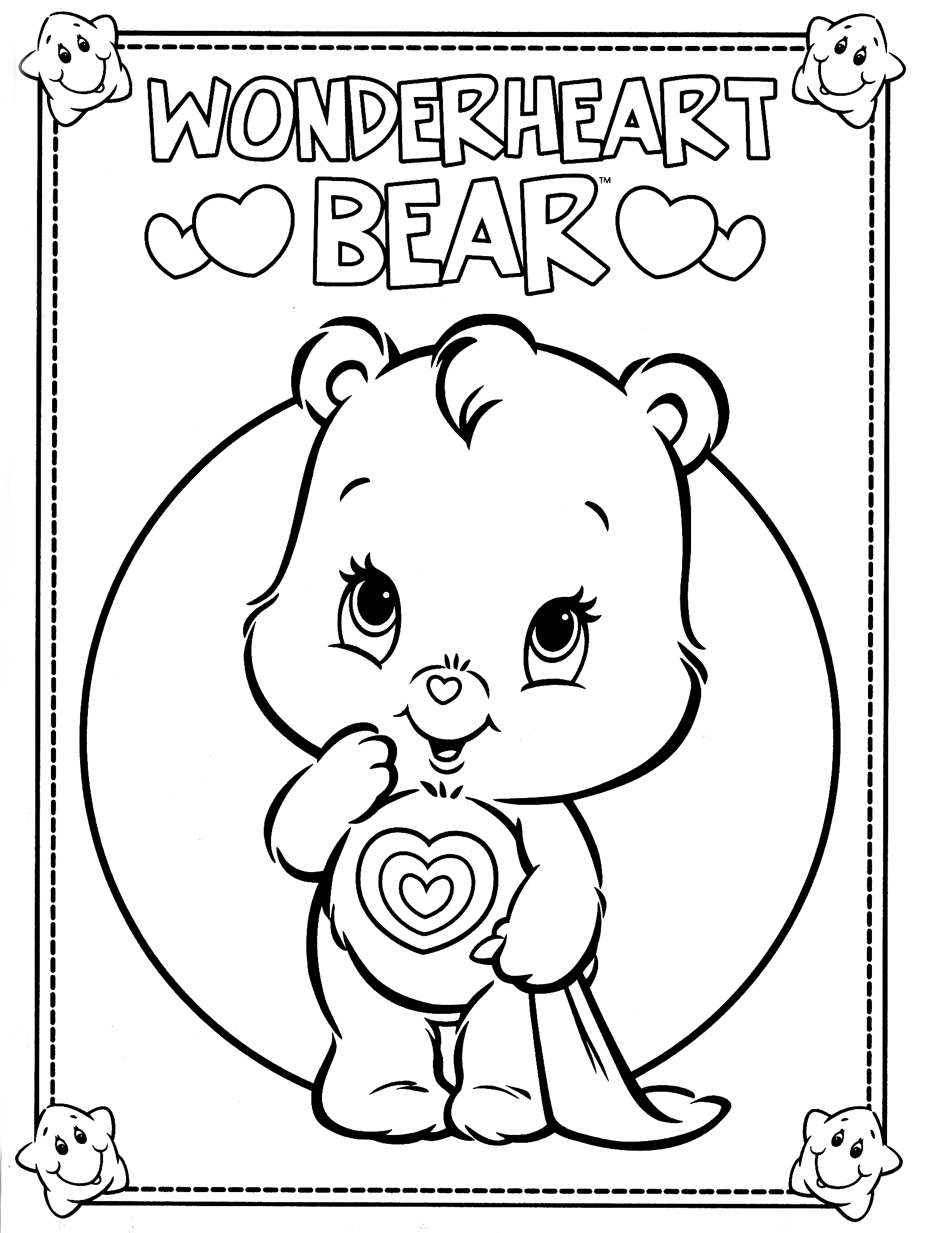 Cheer Bear Coloring Pages Download And Print For Free