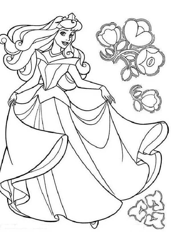 Princess Aurora Coloring Pages To Download And Print For Free