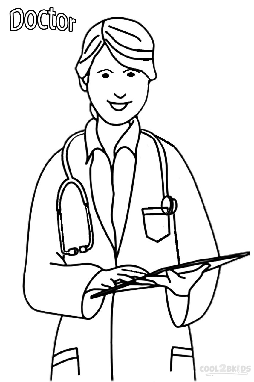 Doctor coloring pages to download and print for free | coloring page for kindergarten