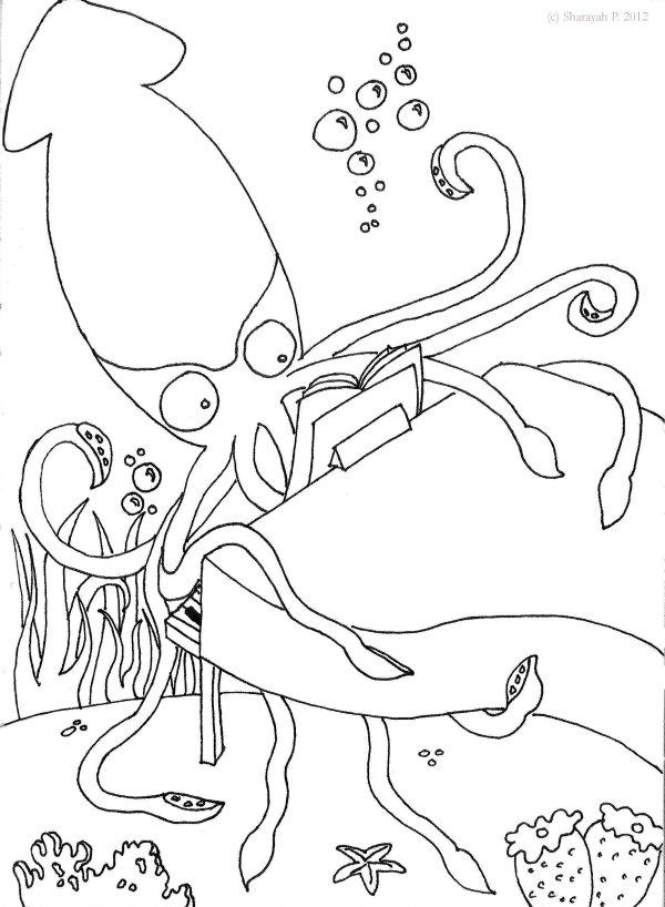 squid coloring # 39