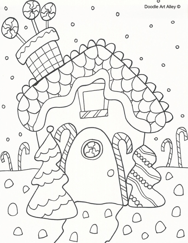 Christmas Gingerbread Coloring Pages Download And Print
