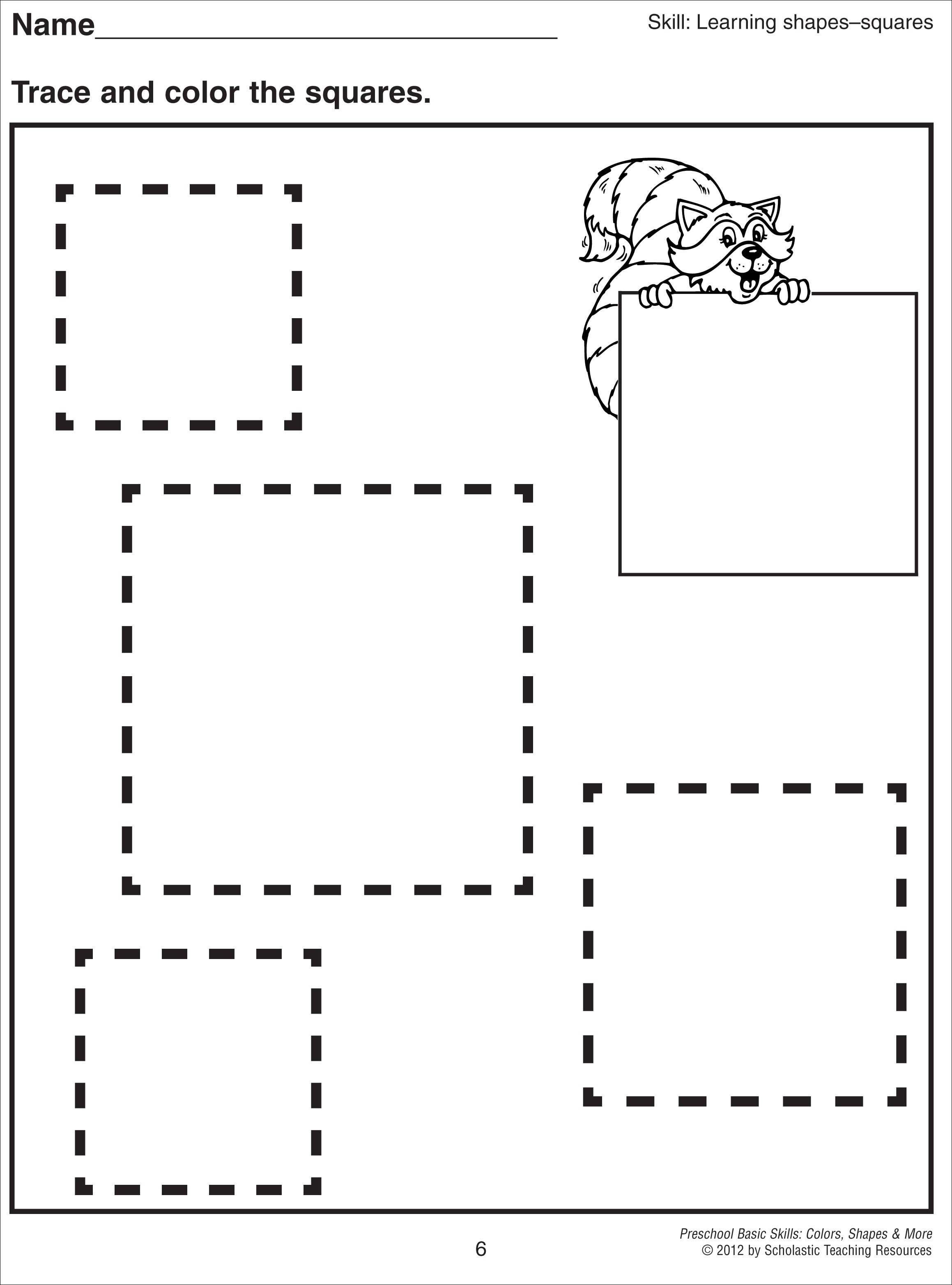Square Coloring Pages To Download And Print For Free