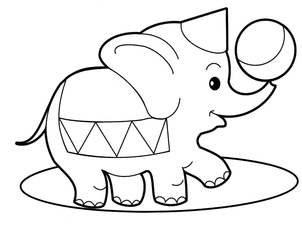 Baby Elephant Coloring Pages To Download And Print For Free