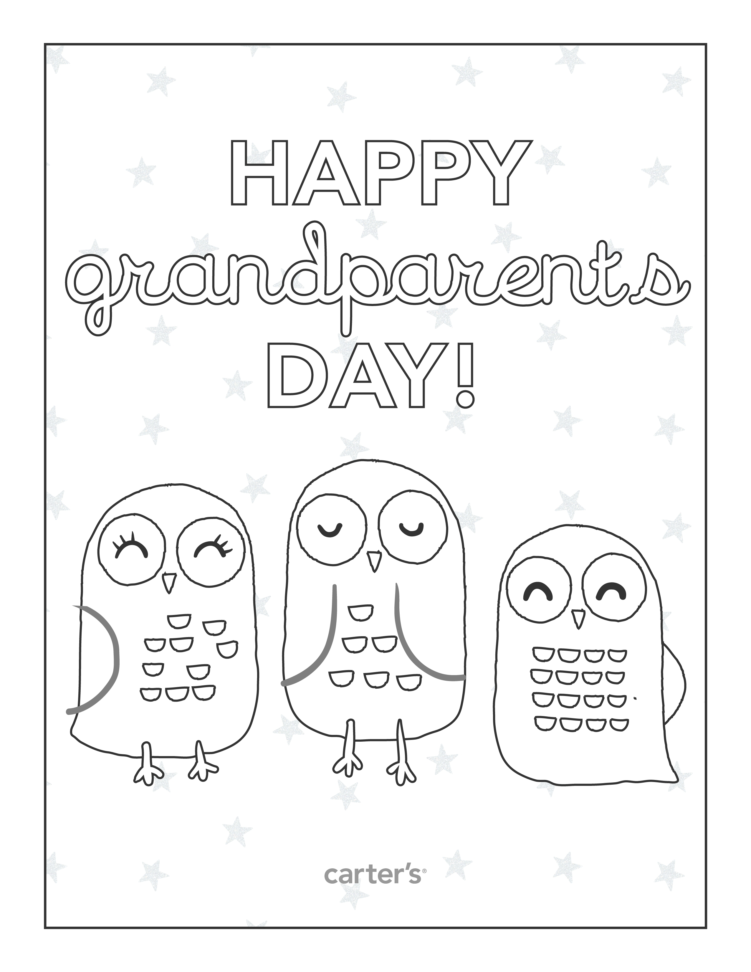 Grandparents Day Interview Worksheet