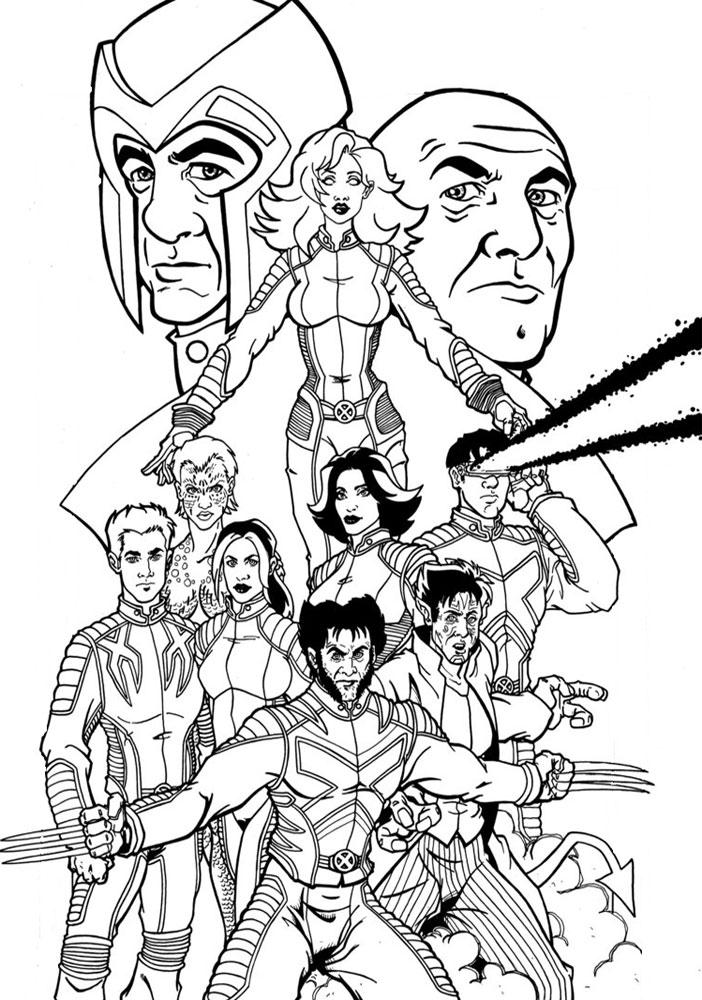 Você pode baixar e imprimir a desenhos de lol surprise para colorir em colorironline.com X-men coloring pages to download and print for free