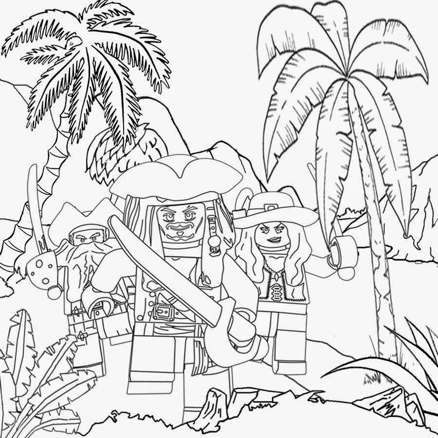 5 Coloring Pages Caribbean Pirates