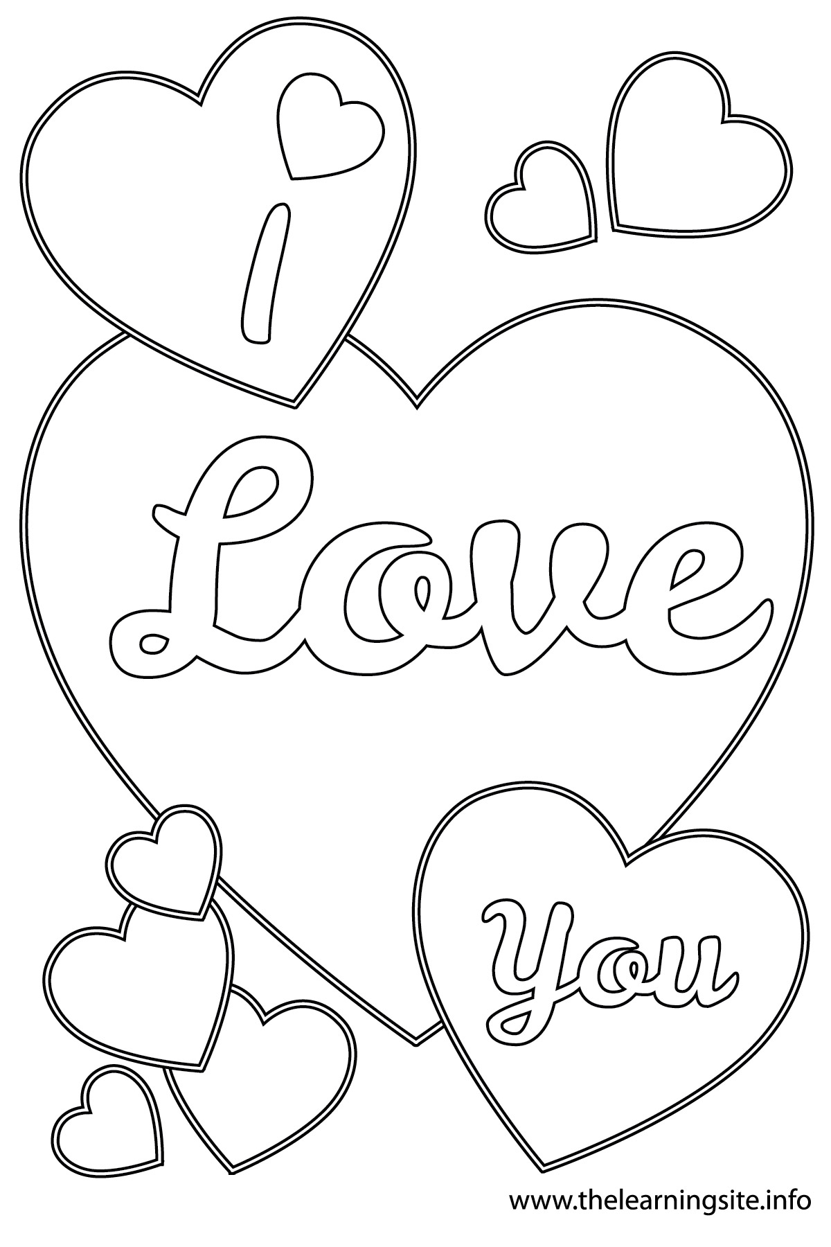 I Love You Coloring Pages To Download And Print For Free