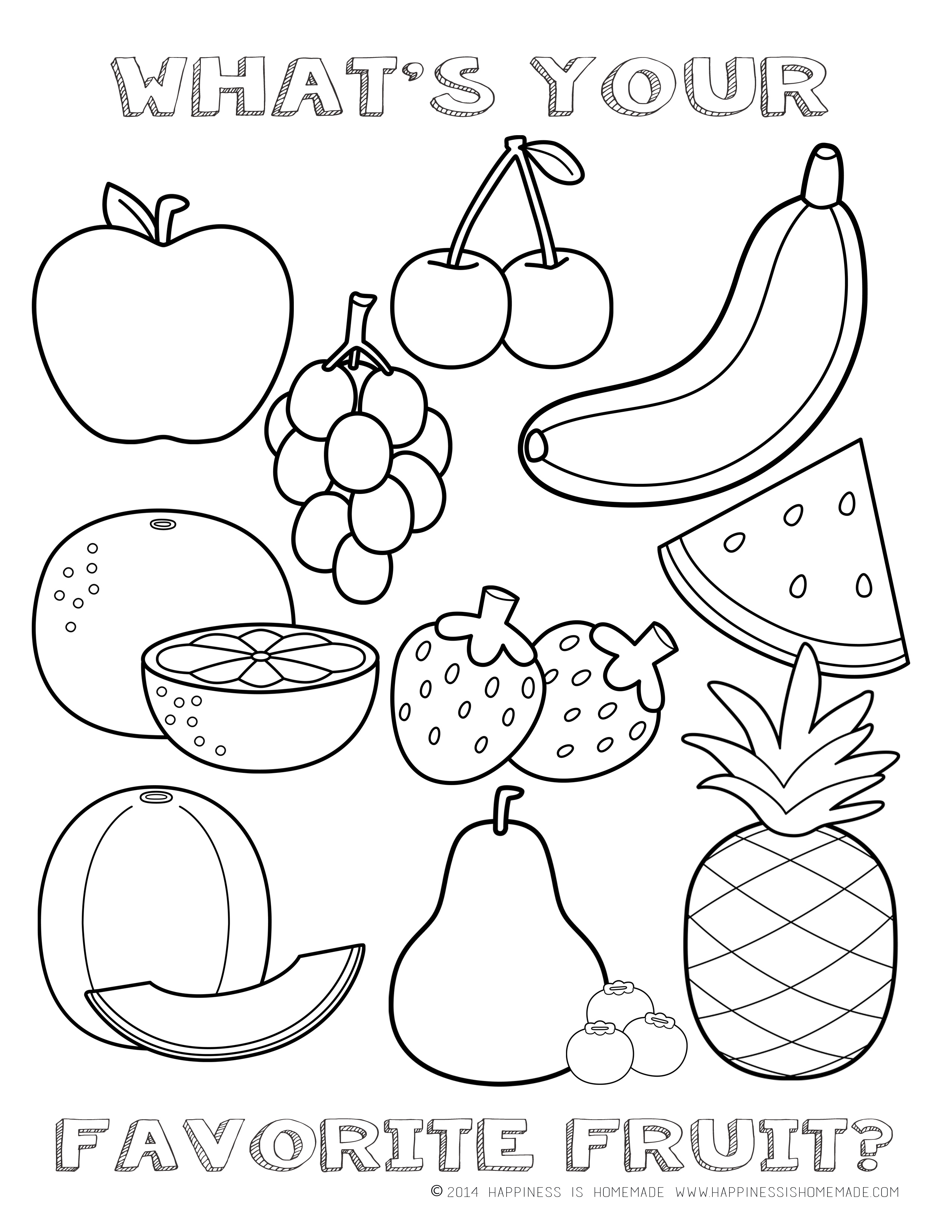 Fruit Salad Coloring Pages Download And Print For Free