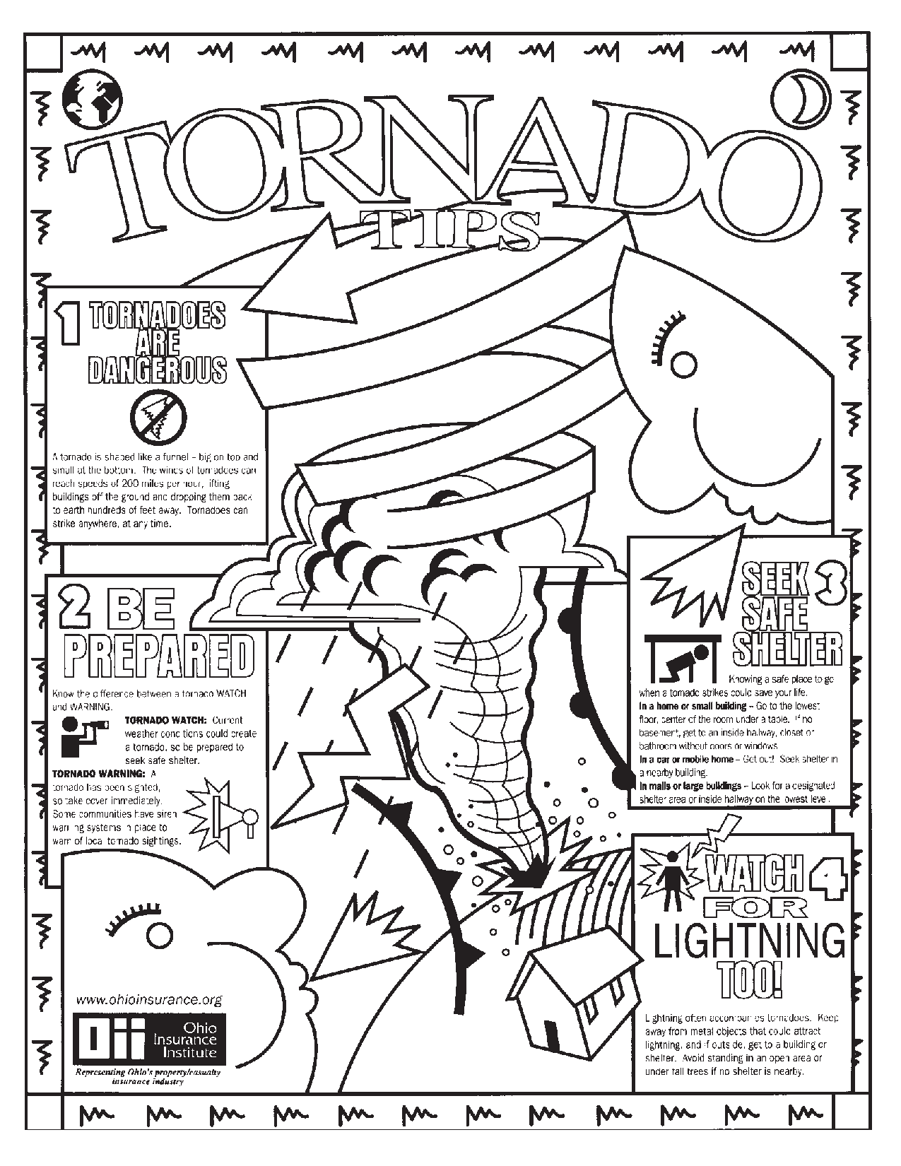 Tornado Coloring Pages Sketch Coloring Page