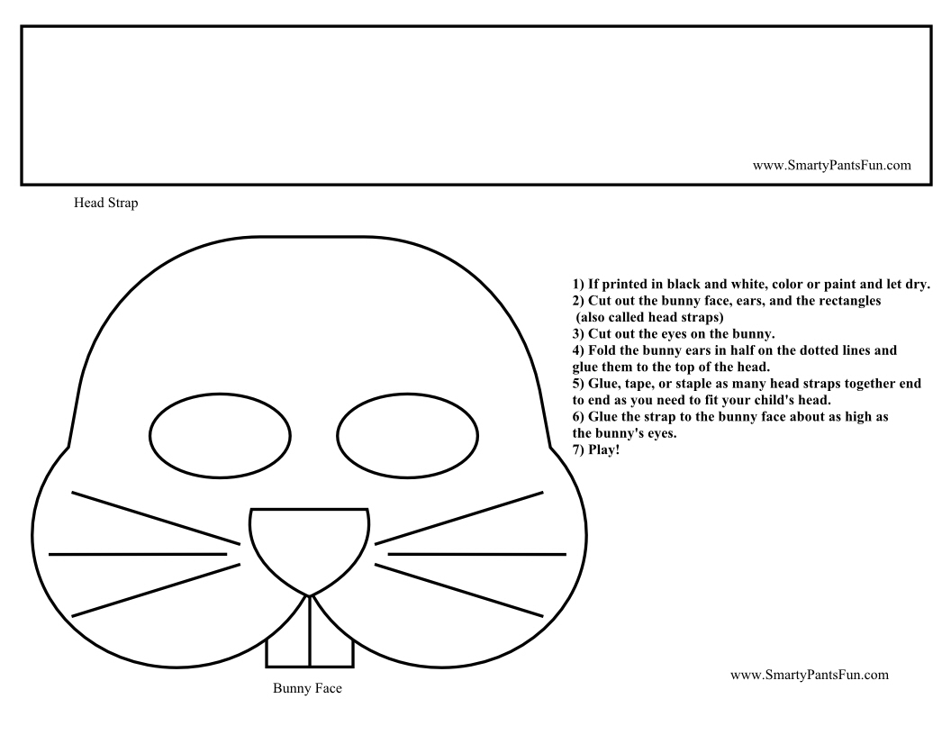 Easter Bunny Ears Coloring Pages Download And Print For Free