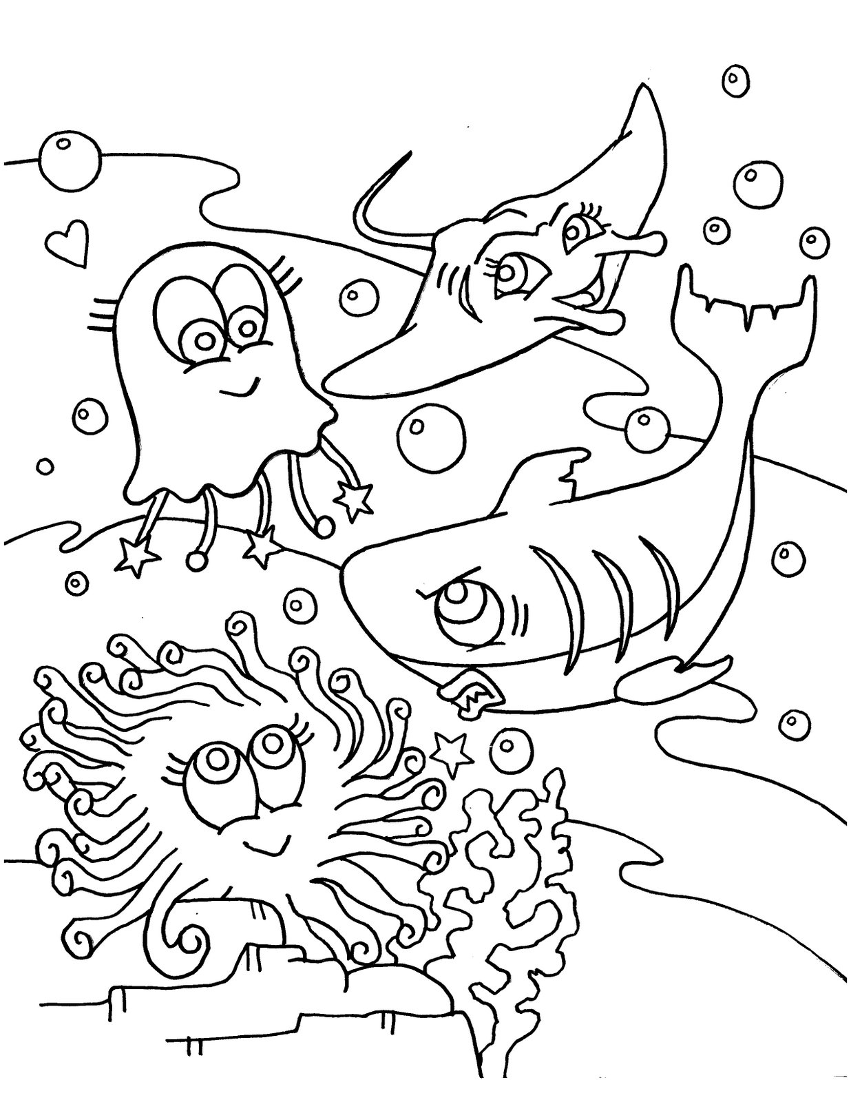 Ocean Coloring Pages To Download And Print For Free