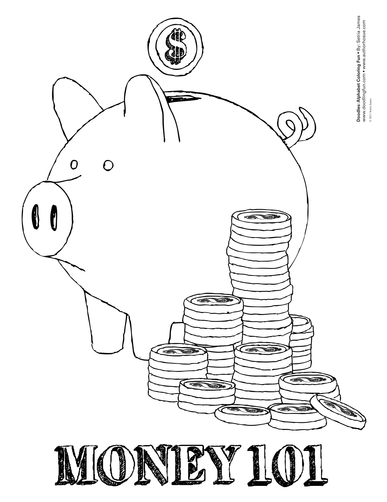 Money Coloring Pages To Download And Print For Free